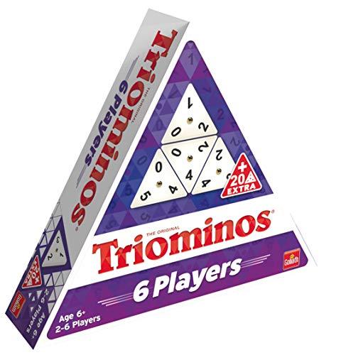 Goliath 360725.006 Triominos 6 Spieler-das spannende Anlegespiel, ab 6 Jahren, weiß