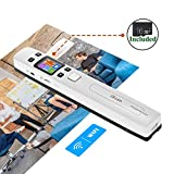 "WiFi Portable Scanners for Photo, Receipts, 1050 DPI, (16G Memory Card Included), Rechargeable, MUNBYN Photo Scanner for Phone. 8.27"" Width of Scanning. 3 Resolutions Modes/2 Scanning Modes."
