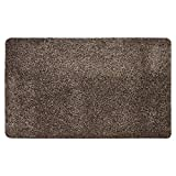 MUD STOPPER Door Mat | Shower Mat | Super Soft Feel | Machine Washable | Non-Slip Door Mat for Home/Office | 100% Polyester | 50 x 80cm - Taupe