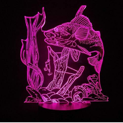 3D-lamp damastjesvis werkt op batterijen, fantastisch cadeau voor tieners, 7 kleuren, led-nachtlampje, usb-lamp, kleur mobiele app-afstandsbediening