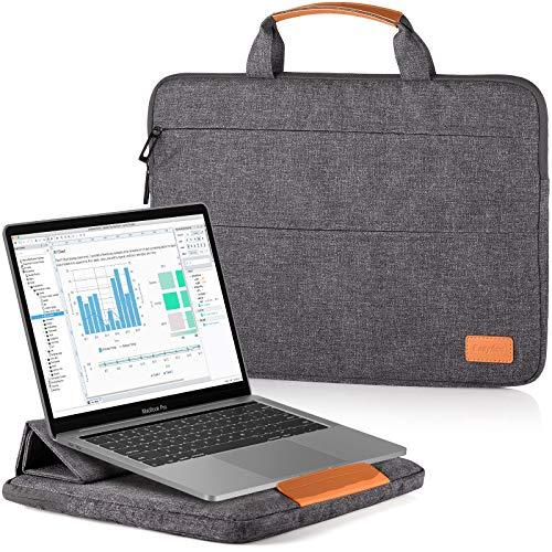 EasyAcc 13-13,3 Pollici Custodia Borsa PC Laptop Computer Portatile con Funzione Supporto Adattabile per MacBook Air Notebook Ultrabook Chromebook Ace