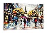 ARTTOR Cuadro sobre Lienzo - Impresión de Imagen - Paris Ciudad hogar - 100x70cm - Imagen Impresión - Cuadros Decoracion - Impresión en Lienzo - Cuadros Modernos - Lienzo Decorativo - AA100x70-3941