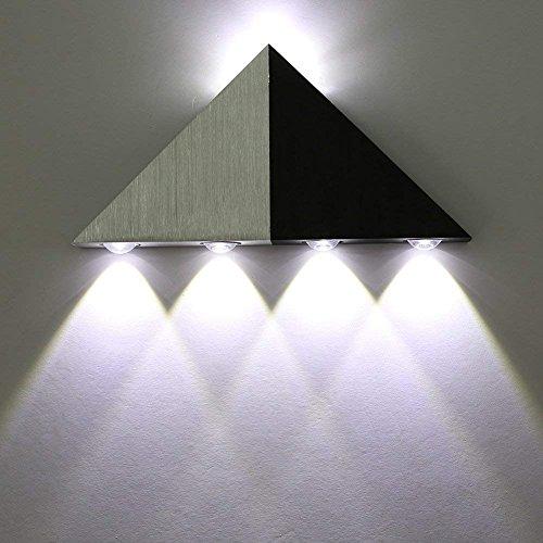 Asvert LED 5W Wandleuchte aus Aluminum Wandlampe Dreieckig effektlampe up down Flurlampe Wandbeleuchtung Treppenleuchten Designerlampen innen (Kühles Weiß)