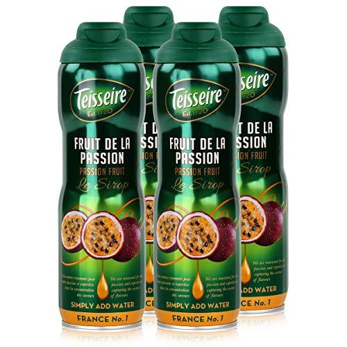 Teisseire Getränke-Sirup Passion Fruit/Passionsfrucht 600ml - Sirup der genauso schmeckt wie die Frucht (4er Pack)