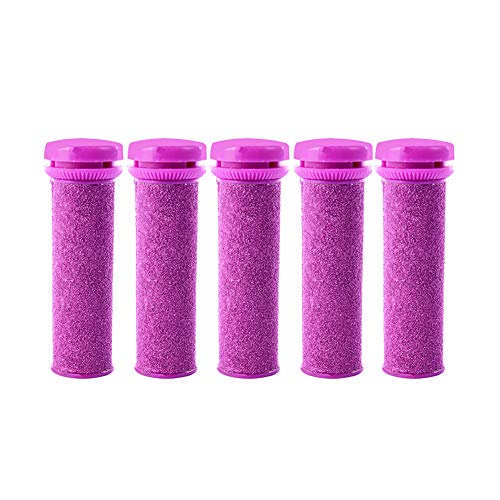 Foot Solutions Super Coarse Replacement Rollers Compatible with Micro-Pedi Callus Remover (5 Pack-Purple)
