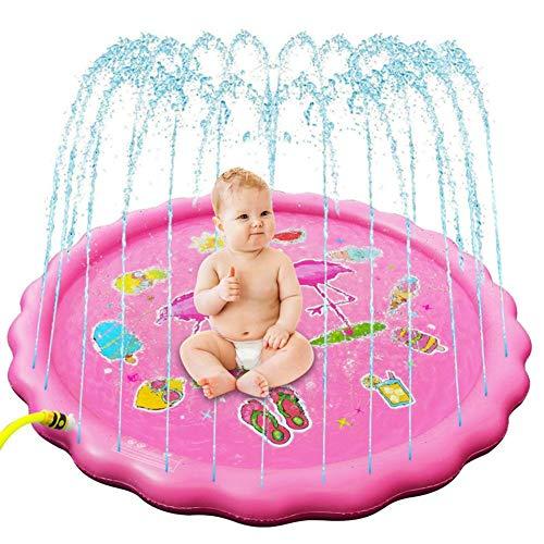 MezoJaoie [2020 Updated] Arroseur pour enfants, Splash Pad, Sprinkle And Splash Play Mat Outdoor Water Splash Mat Toys Jouets pour tout-petits, bébé