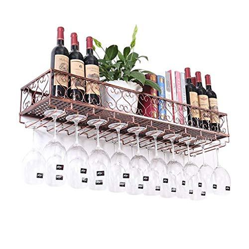 HLWJXS Estante de Vino Estante de Alenamiento de Champán Montado en la Pared Metal Inicio Botella de Vino Colgante Vaso Soporte de Vidrio Estante de Alenamiento Decoración de Cocina Restaurante,el 12