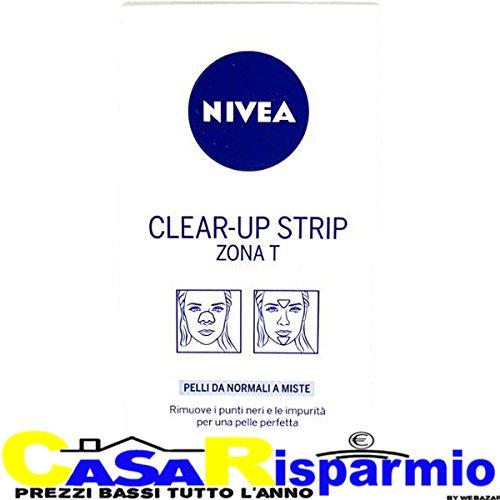 3 PZ NIVEA cerotti per le impurita' e i punti neri del viso clear-up strip 18 cerotti
