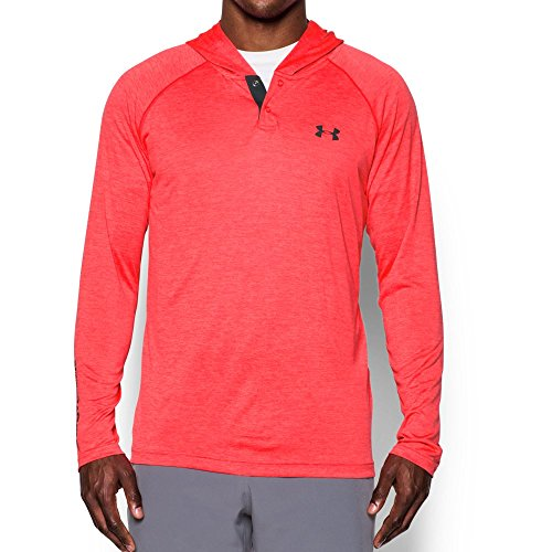 Under Armour Men's Tech Popover Henley Long Sleeve Shirt - Marathon Red, X-Large