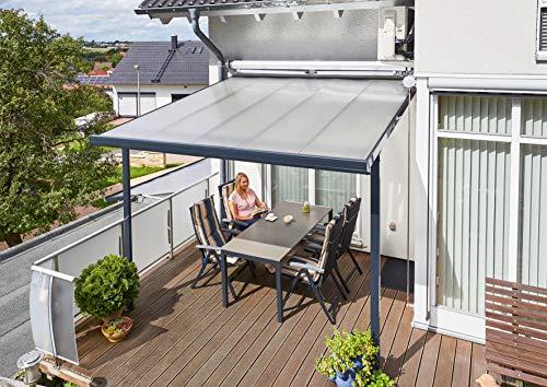 Gutta Terrassendachsystem Terrassenüberdachung Terrasse Überdachung Alu Anthrazit 3x3 4,2x3 5,4x3 m (3 x 3 m)