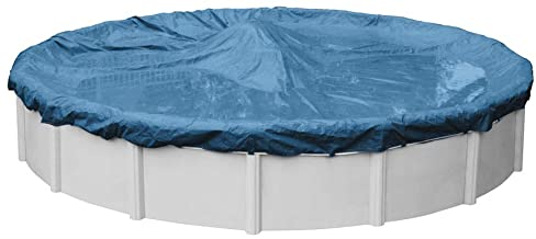 Robelle 3528-4 Super Winter Pool Cover for Round Above Ground Swimming Pools, 28-ft. Round Pool