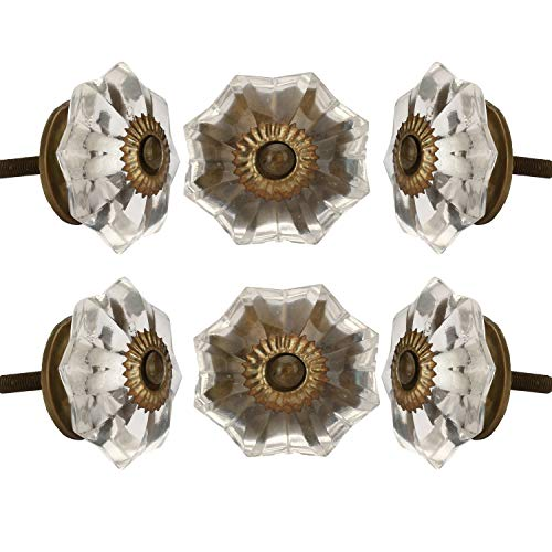 glass and brass knobs - 1