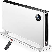 Radiador Eléctrico Calefactor eléctrico Calentador eléctrico portátil Convector con termostato Ajustable, hogar Oficina o for Ideal, 2000 W - Blanco Calefactor