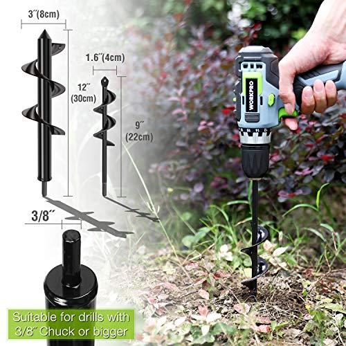 WORKPRO 2-Piece Auger Drill Bit, 1.6