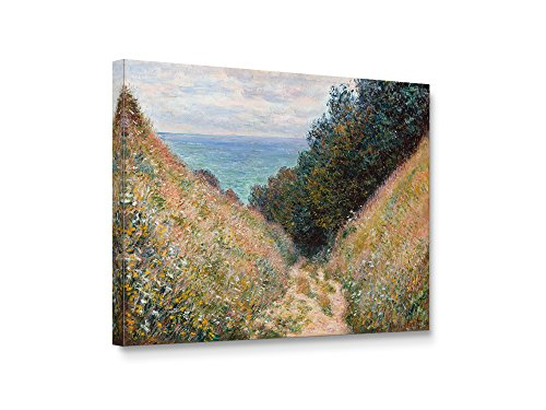 Niwo Art (TM - Path at La Cavee Pourville, by Claude Monet, Oil Painting Reproduction - Giclee Wall Art for Home Decor, Gallery Wrapped, Stretched, Framed Ready to Hang (20