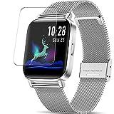 Vaxson 3 Stück Schutzfolie kompatibel mit CanMixs ZX08 smartwatch Smart Watch, Displayschutzfolie Bildschirmschutz Blasenfreies [nicht Panzerglas]