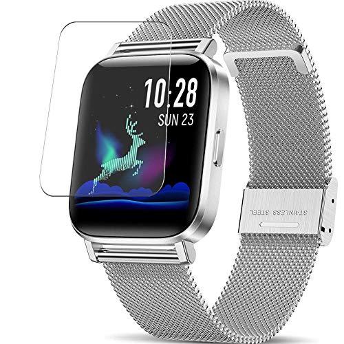 Vaxson 3-Pack TPU Pellicola Protettiva, compatibile con CanMixs ZX08 smart watch, Screen Protector Film [ Non Vetro Temperato ] Nuova versione