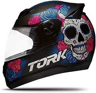 Pro Tork Capacete Evolution G7 Mexican Skull 60 Preto