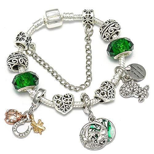 MZFRXZ Damen Armband Charm Armbänder Für Frauen Mit Bunten Perlen Fit Original Brand Armband Für Frauen Schmuck Geschenk 17 cm BF17