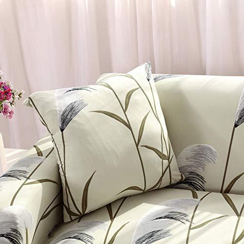 papasgix Copricuscino Divano Elasticizzato 45×45 cm Fodere per Cuscino del Divano Confezione da 2, Moderna Fodera per Cuscino per Casa Divano Camera da Letto,Canna