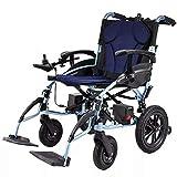 Rueda antivuelco plegable para silla de ruedas eléctrica con cinturón de seguridad, palanca de control inteligente de 360 ° + batería de litio de gran capacidad