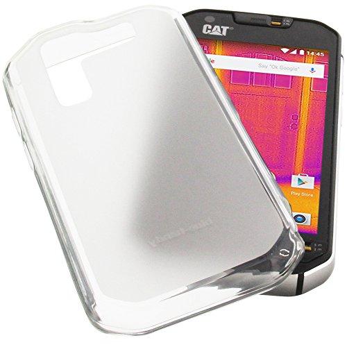 foto-kontor Tasche für CAT S60 Gummi TPU Schutz Handytasche transparent weiß