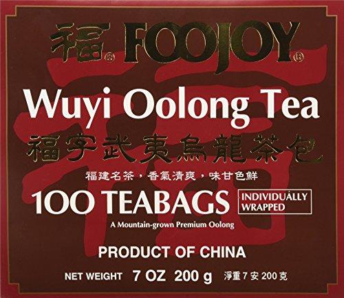 Foojoy Wuyi Mtn. Oolong (Wu Long) Tea 100 Tea Bags, 7 Ounce
