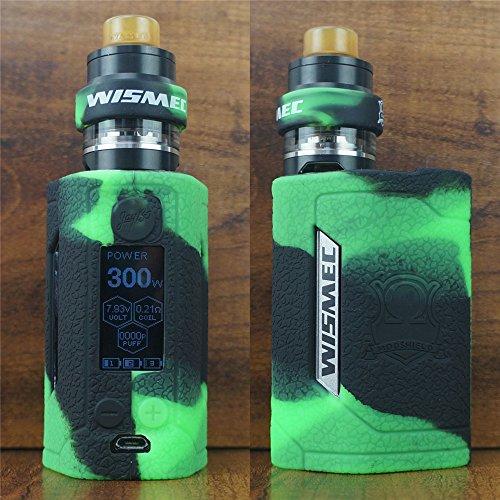 ModShield for Wismec Reuleaux RX GEN3 300W TC Silicone Case & Tank Band ByJojo GEN 3 Skin Cover Sleeve Shield (Green/Black)