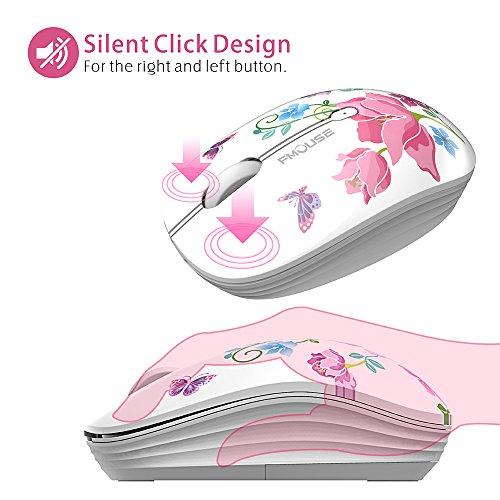 TENMOS M101 Wireless Maus, PC Kabellose Mouse Cute Silent Schnurlos Optische Travel Wireless Mäuse mit USB Receiver für Notebook/Laptop/Computer/MacBook, DPI 1600