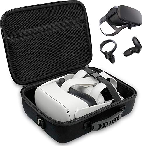 Oculus Quest & Oculus Quest 2 Case, Carrying Case for Oculus Quest 2 VR Gaming Headsets and Controllers Accessories, Hard Travel Case Protective Storage Case with Shoulder Strap