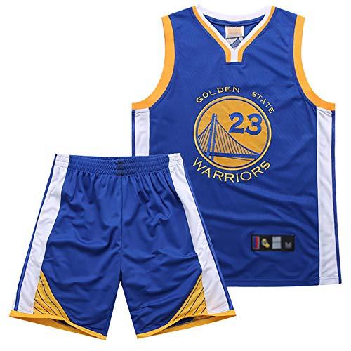 YENDZ Traje de Camiseta de Baloncesto para Hombre, Warriors No. 23 Green, Chaleco Deportivo Transpirable y de Secado rápido, Pantalones Cortos 2XL Blue