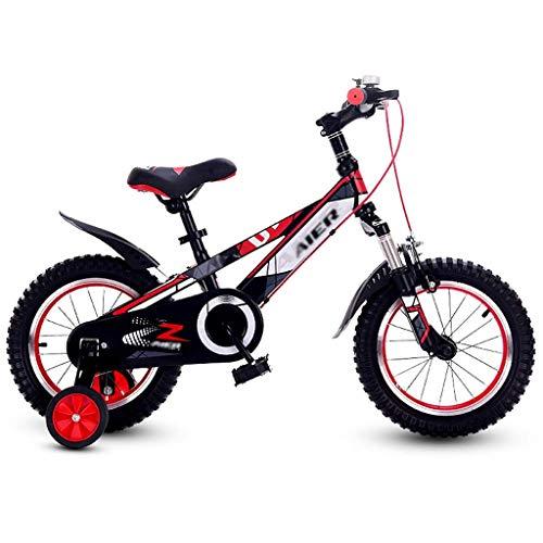 WJSW Kinderfahrräder Kinderfahrrad Outdoor-Kinder-Roller Junge Mädchen Fahrrad 3~15 Jahre alt Heimtrainer Dreirad Kinder-Mountainbike Kinder-Buggy (Farbe: Rot, Größe: 16 Zoll)