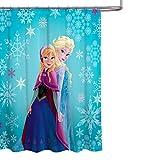 Tenda per doccia in Tessuto Frozen Elsa e Anna