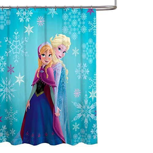 Cortina de Ducha de Tela congelada Elsa y Anna