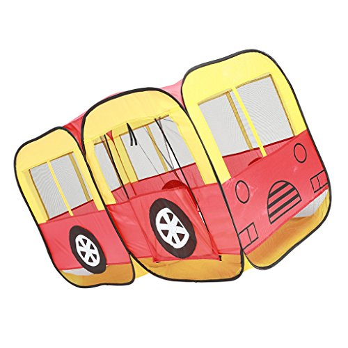 63'' Pop Up Bus Car Play Tent Hut for Kids Outdoor Indoor Play Houses Game Nursery Playpen Waterproof Car Play House Castle Tent Toy Baby Infant Christmas Gift