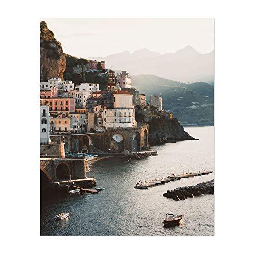 "Noir Gallery Atrani Amalfi Coast Italy Beach 8"" x 10"" Unframed Art Print/Poster"