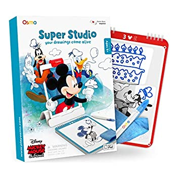 Osmo - Super Studio Disney Mickey Mouse & Friends Game - Ages 5-11 - Learn to Draw - For iPad or Fire Tablet  Osmo Base Required