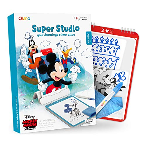 Osmo - Super Studio Disney Mickey Mouse & Friends - Ages 5-11 - Learn to Draw - For iPad or Fire Tablet (Osmo Base Required)