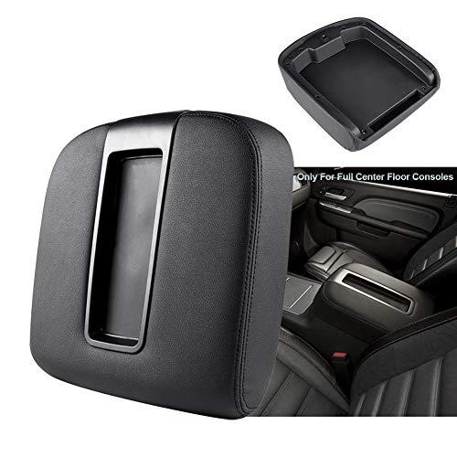 Armrest Center Console Lid Fit for 2007-2013 Chevy Chevrolet Silverado, Tahoe, Suburban, Avalanche, GMC Sierra, Yukon, Yukon XL Replaces 15217111 15941534 - Black