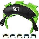 POWRX Saco Búlgaro 12 kg - Bulgarian Bag Ideal para Ejercicios de Entrenamiento Funcional y potenciamiento Muscular (Verde Claro)