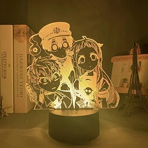 Anime Lights 3D Led,Anime Toilet Bound Hanako kun LED Night Light,Figura Modelos 3D Lámpara Dormitorio Decoración Anime Amantes Cumpleaños Luces Noche