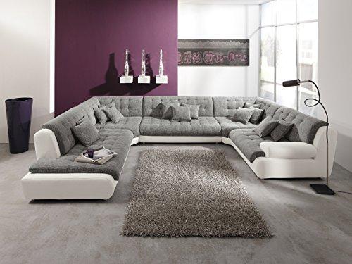 Wohnlandschaft Ecksofa Mega Riesen Sofa Store im XXL Format U Form