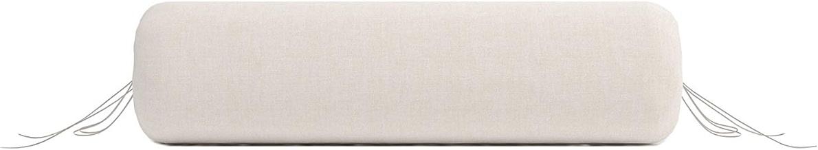 beige Pflegehome24/® Halbrolle Knierolle Nackenrolle mit Kunstlederbezug 50 x 25 x 12,5 cm