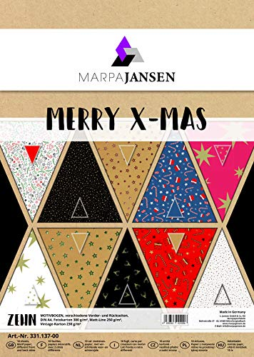 Marpa Jansen Cartoncino Fotografico Certificazione con Blauer Engel per bricolage e Disegno DIN A3, 50 Fogli, 300 g//m2 Grigio Antico