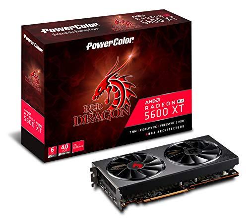 PowerColor AMD Radeon RX5600XT搭載 グラフィックボード GDDR6 6GB RED DRAGONシリーズ AXRX 5600XT 6GBD6...