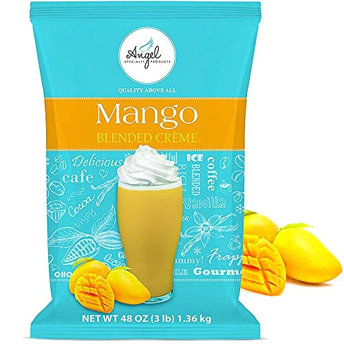 Angel Specialty Products, Blended Smoothie, Instant Frappe Powder Drink Mix, 3-Pound Bag, Mango [34 Servings]