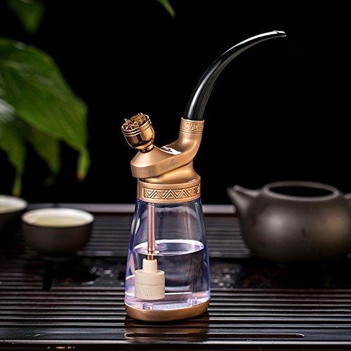 WCP GJY Shisha - Ganze Reihe von Glas Wasserpfeife - Reine Kupfer Vintage Shisha - Rauch Topf Shisha - Filter Zigarettenspitze,A,Huka