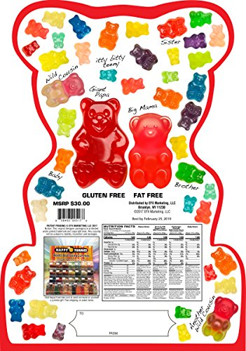 Happy Yummies Worlds Best Tasting Gourmet Gummies Super Bear Assortment 4lb. (64 ounces)
