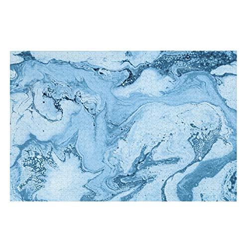 LAOAYI 1000 piezas de tinta de mármol con textura de madera y mármol, regalo educativo 3D, juguete abstracto, arte para familia, entretenimiento blanco, 500 piezas