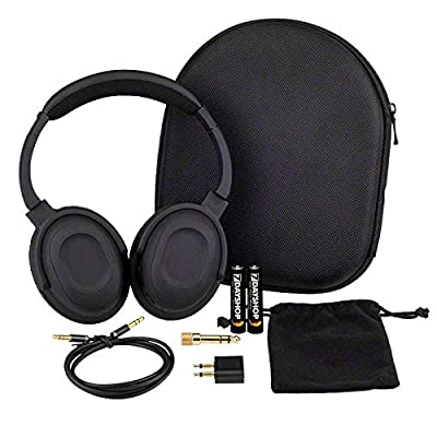 7dayshop Headphones AERO 7 Active Noise Cancelling Headphones with Aeroplane Kit and Travel Case